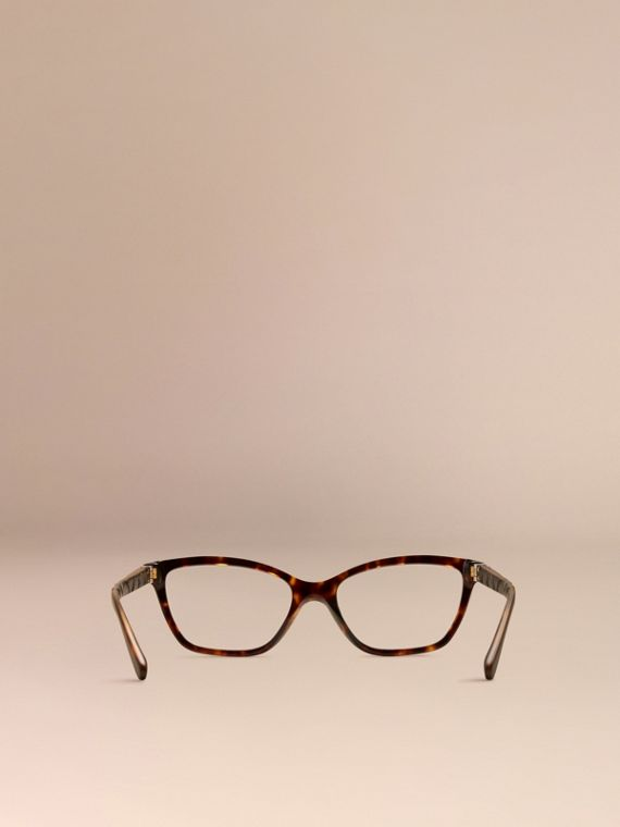 Tortoiseshell Check Detail Cat-eye Optical Frames Tortoiseshell - cell image 2