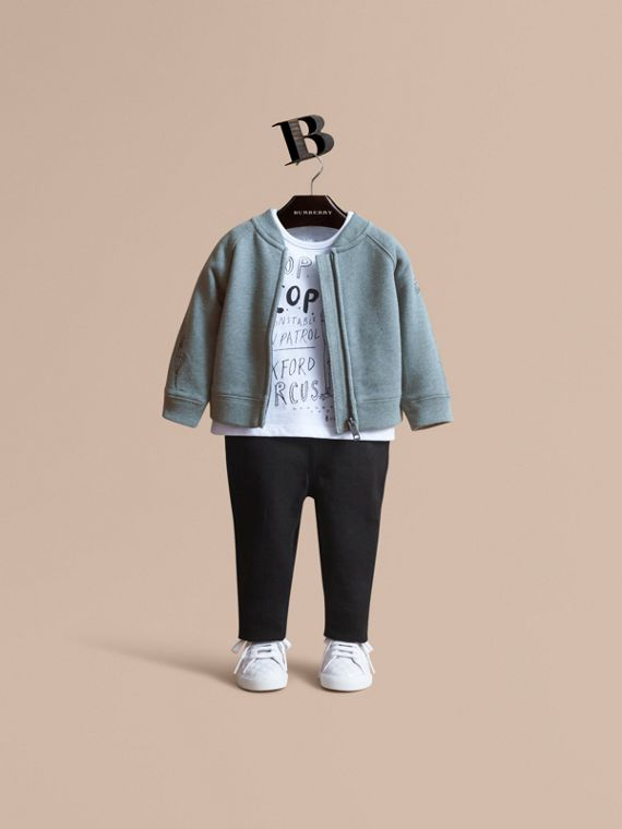 London Icons Print Cotton Zip-front Sweatshirt - Children | Burberry Australia