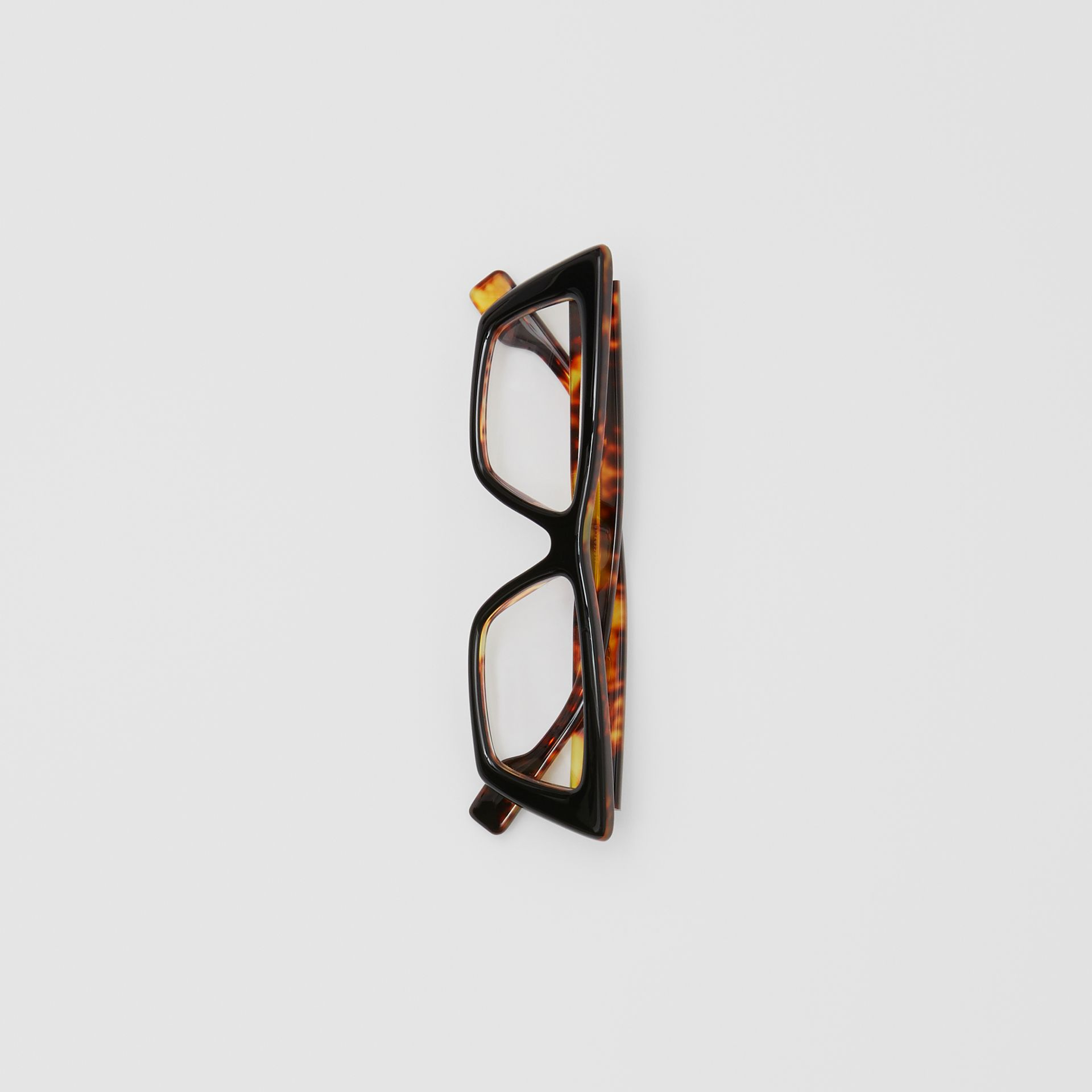 Rectangular Optical Frames in Tortoiseshell - Women | Burberry - gallery image 3