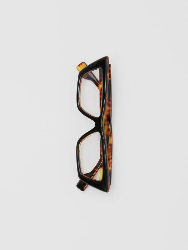 Rectangular Optical Frames in Tortoiseshell - Women | Burberry - cell image 3