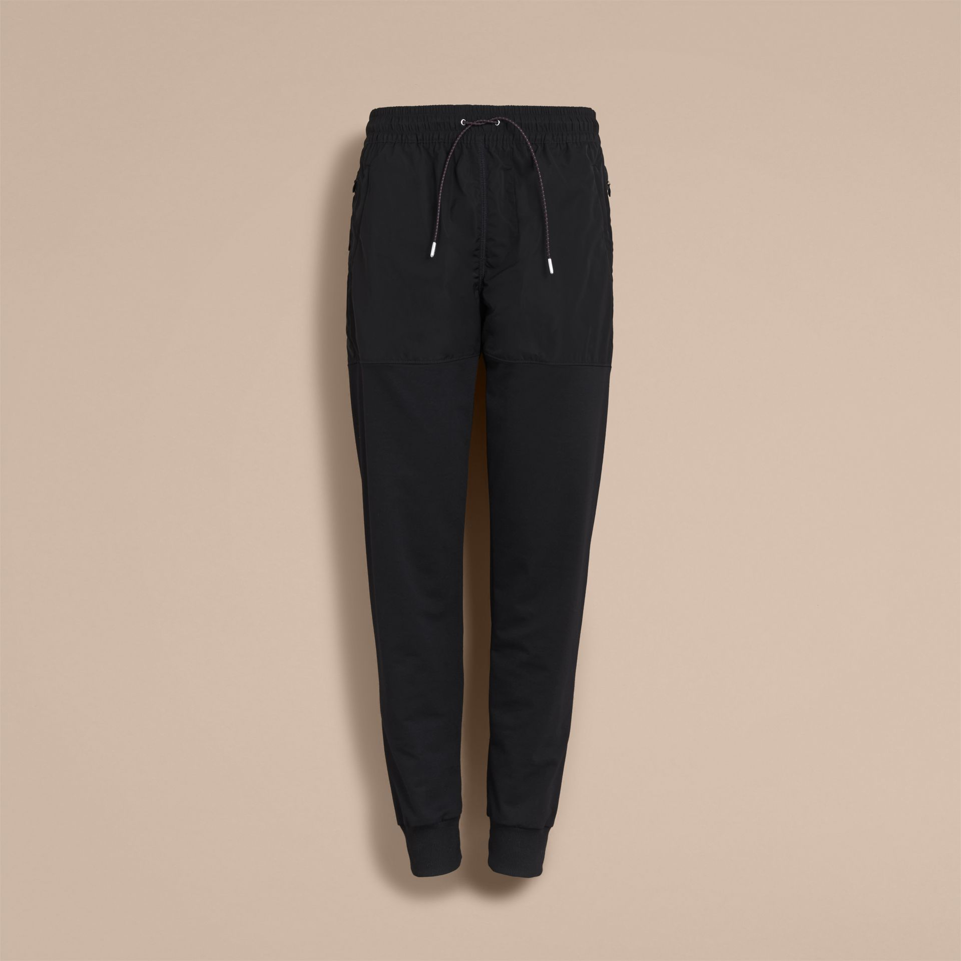 Sport Panel Cotton Blend Sweatpants in Black - Men | Burberry United Kingdom - gallery image 4