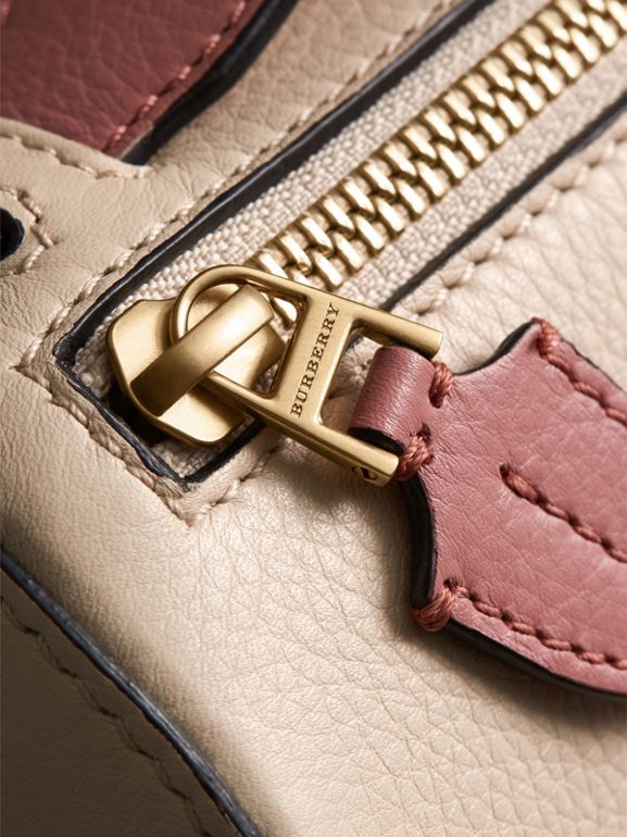 The Leather Barrel Bag in Limestone/dusty Rose - Women | Burberry - cell image 1