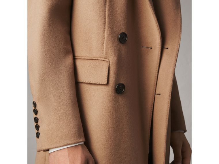 Double-breasted Extra-long Wool Cashmere Coat in Camel - Men | Burberry - cell image 4