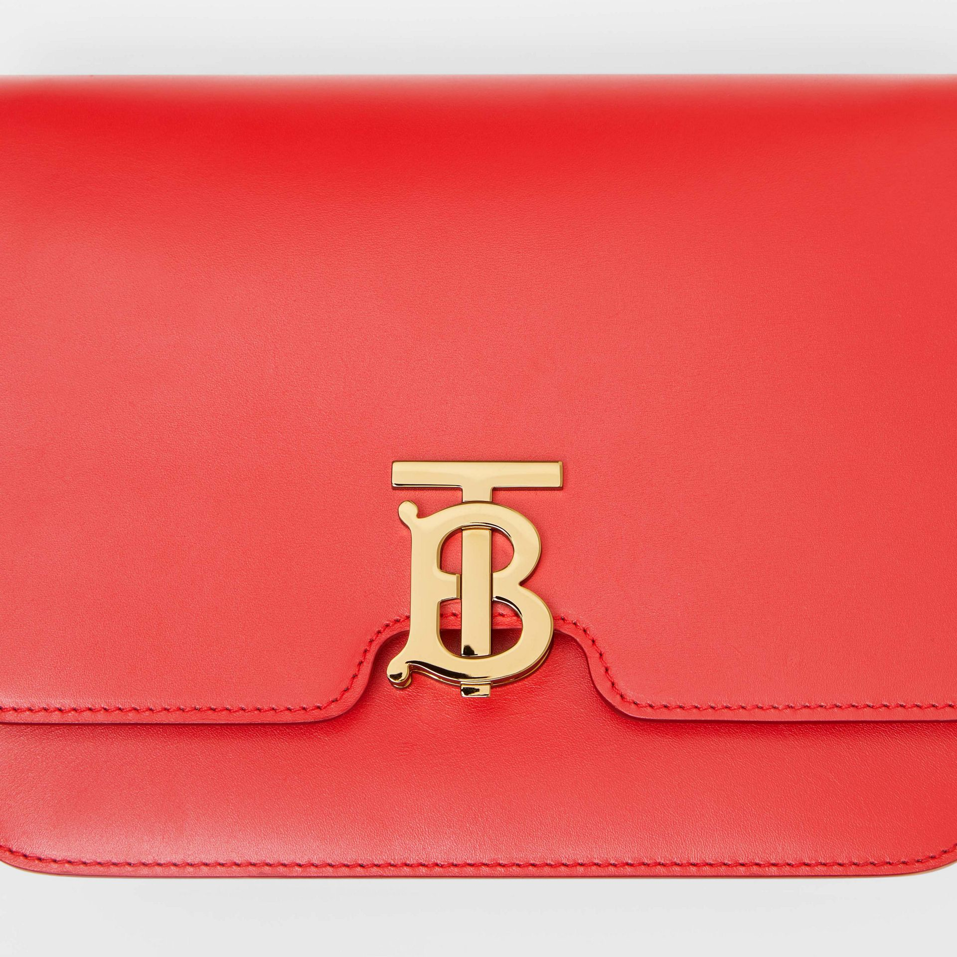 Medium Leather TB Bag in Bright Red | Burberry - gallery image 1