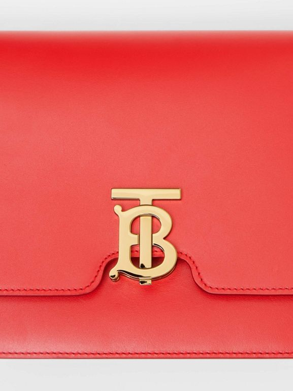Medium Leather TB Bag in Bright Red - Women | Burberry United States - cell image 1