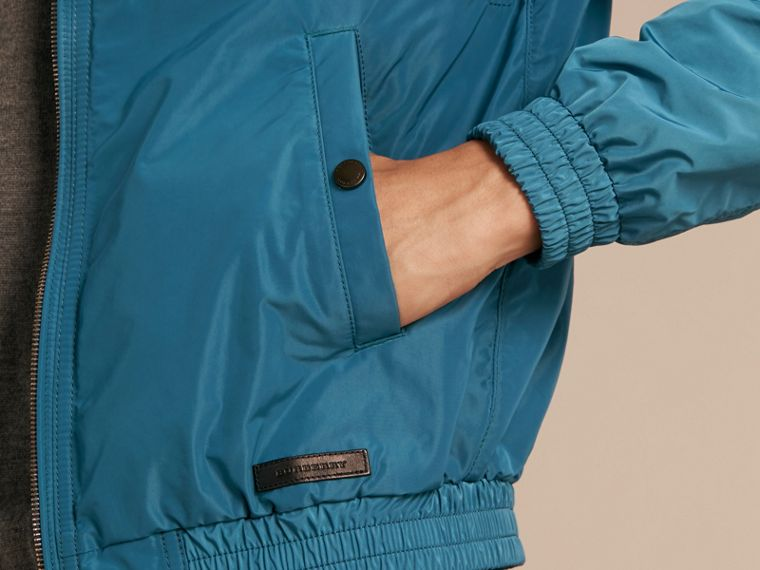 Pale petrol blue Showerproof Bomber Jacket Pale Petrol Blue - cell image 4