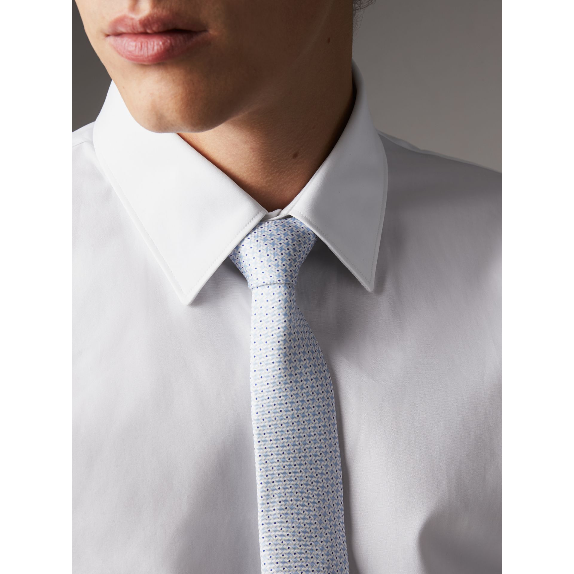 Slim Fit Cotton Poplin Shirt in White - Men | Burberry Hong Kong - gallery image 2