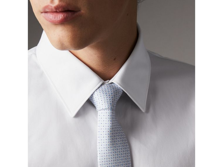 Slim Fit Cotton Poplin Shirt in White - Men | Burberry Hong Kong - cell image 1