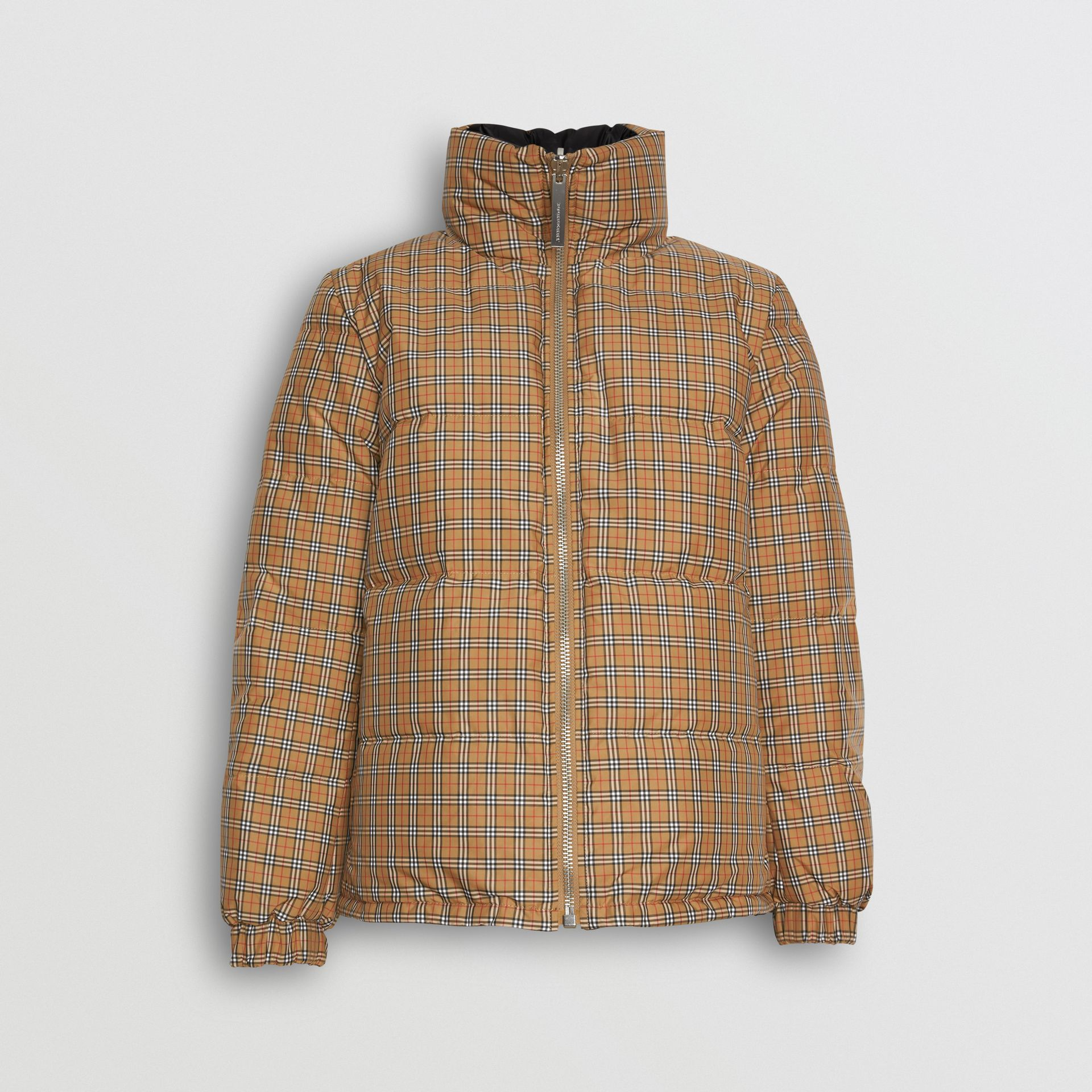 Reversible Vintage Check Puffer Jacket in Antique Yellow - Women | Burberry - gallery image 3