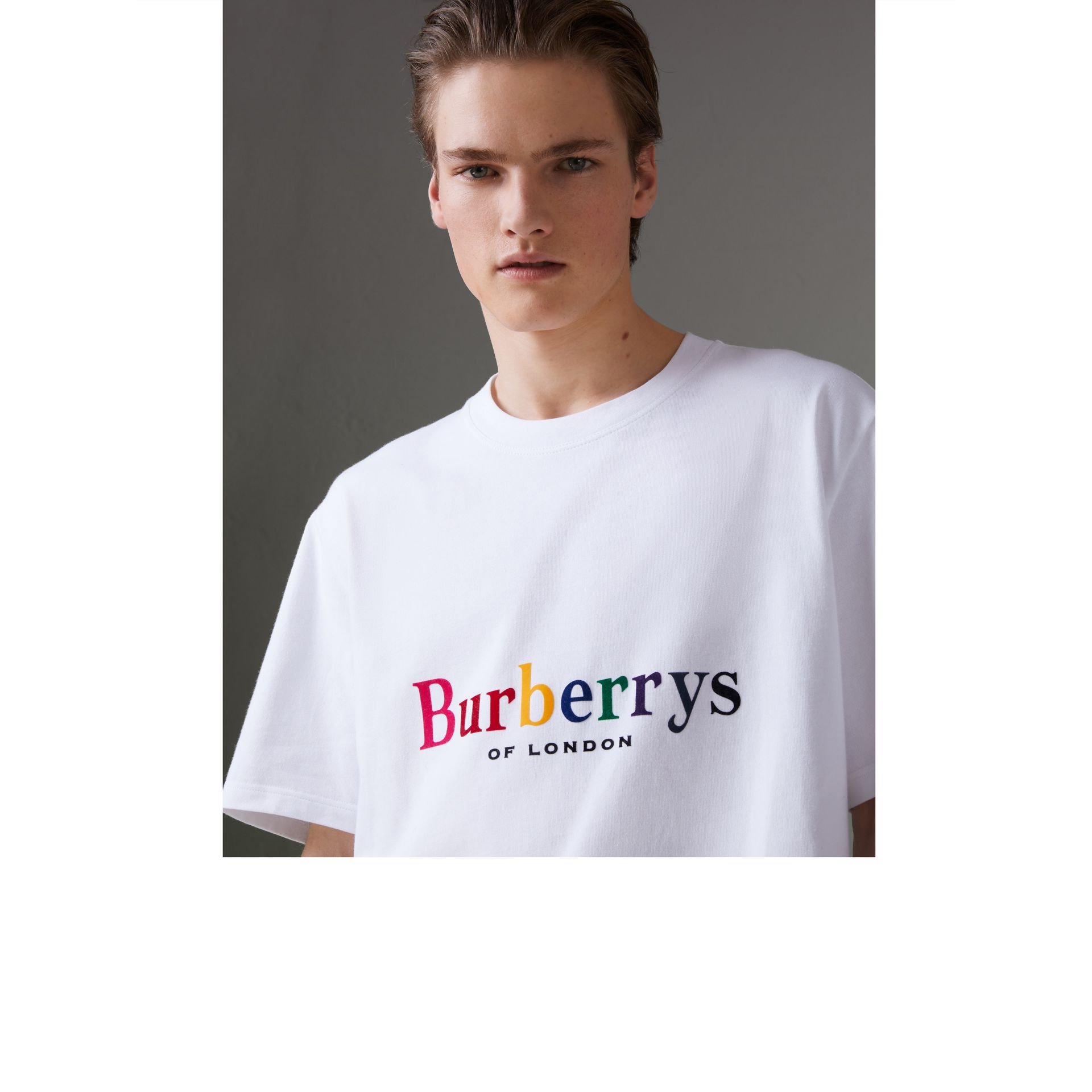 Reissued Cotton T-shirt in White - Men | Burberry Australia - gallery image 1