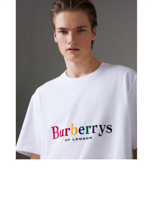 Reissued Cotton T-shirt in White - Men | Burberry - cell image 1