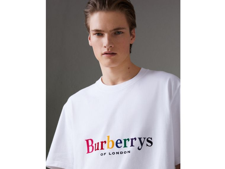 Reissued Cotton T-shirt in White - Men | Burberry Australia - cell image 1