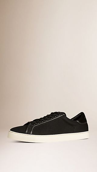 Mesh and Leather Trainers