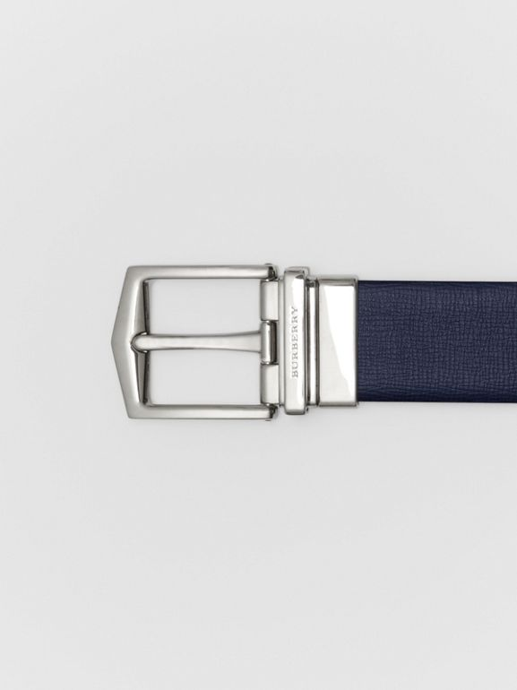 Cintura double face in pelle London (Navy Scuro/nero) - Uomo | Burberry - cell image 1