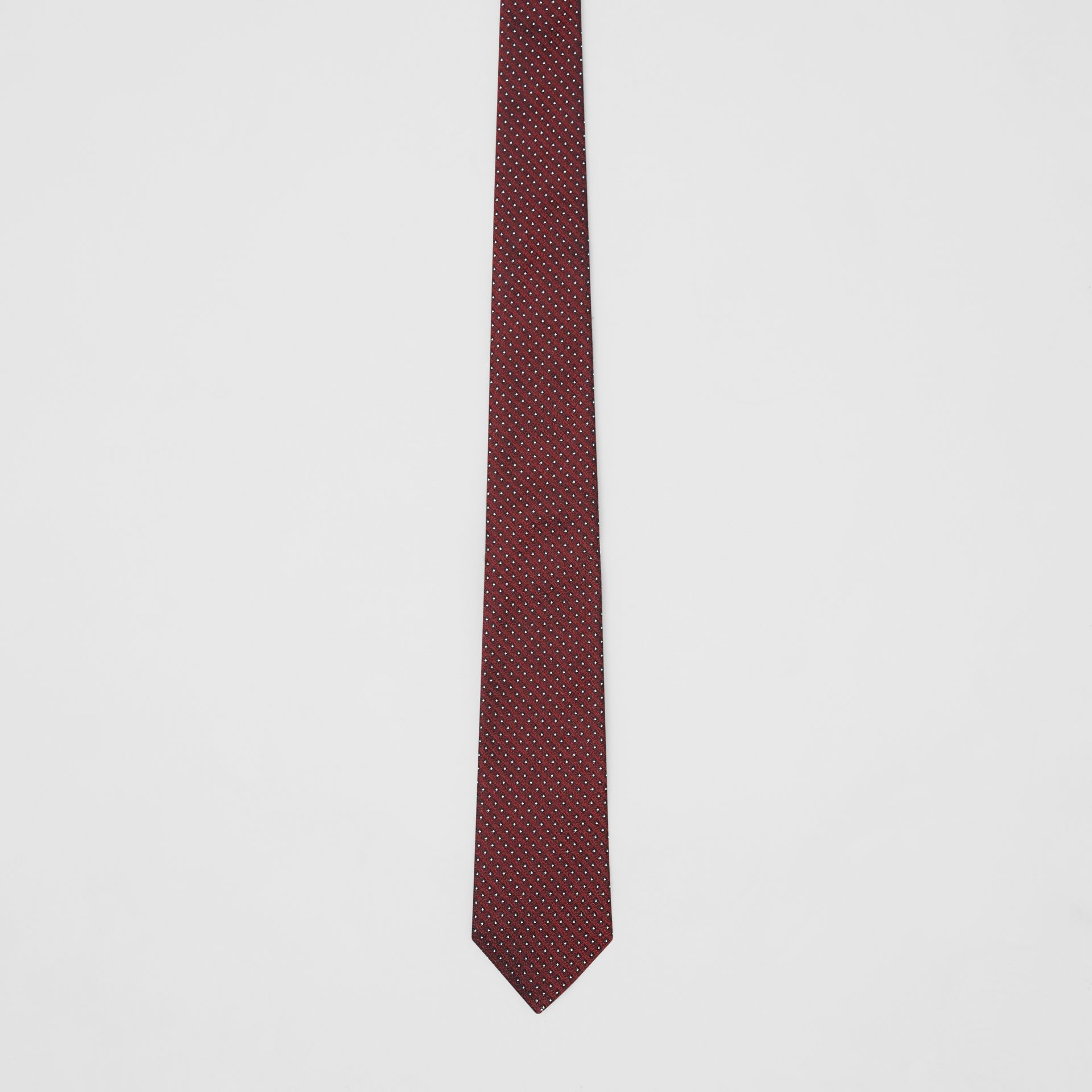 Classic Cut Micro Dot Silk Jacquard Tie in Oxblood - Men | Burberry - gallery image 3