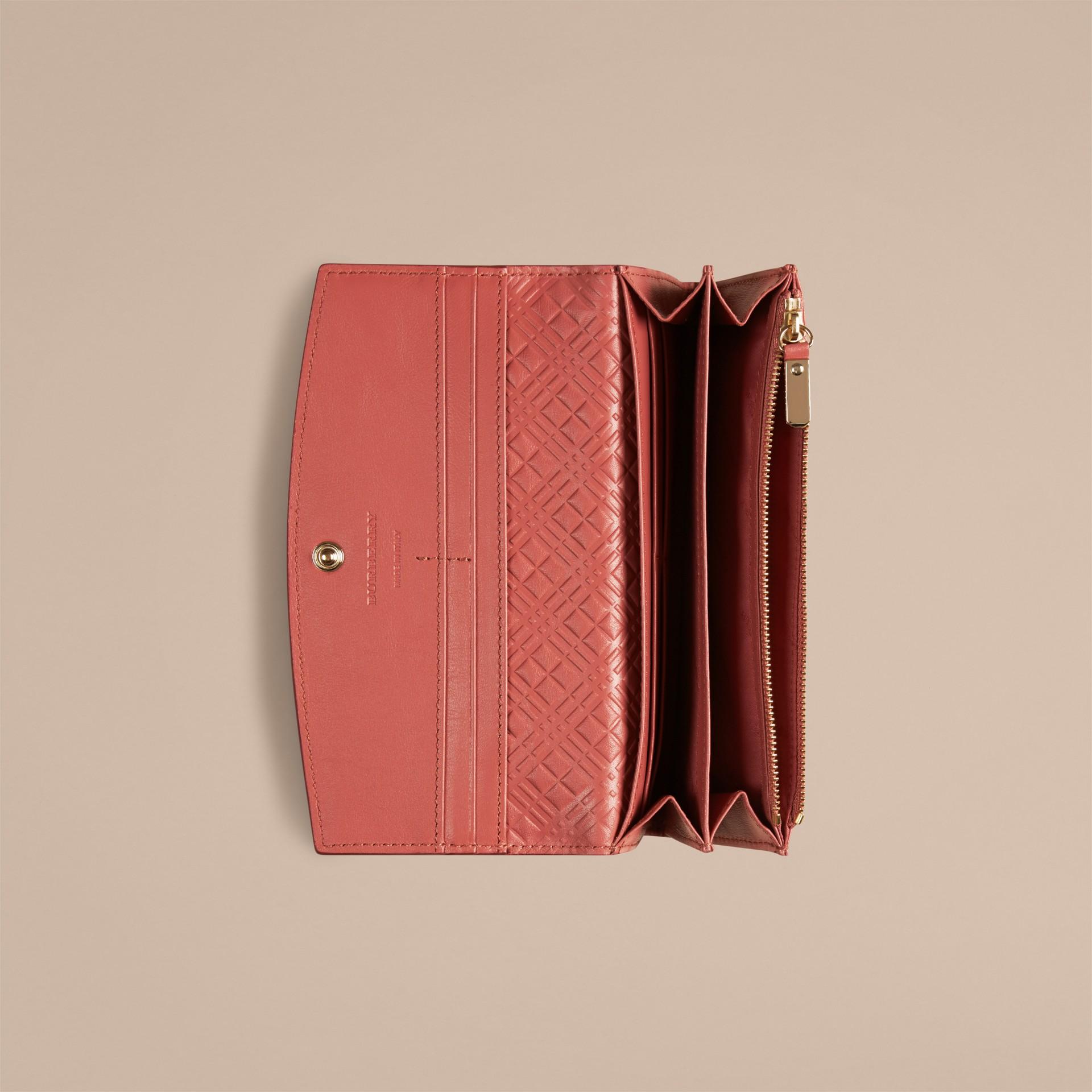 Antikrosa Brieftasche aus London-Lackleder im Kontinentalformat Antikrosa - Galerie-Bild 2