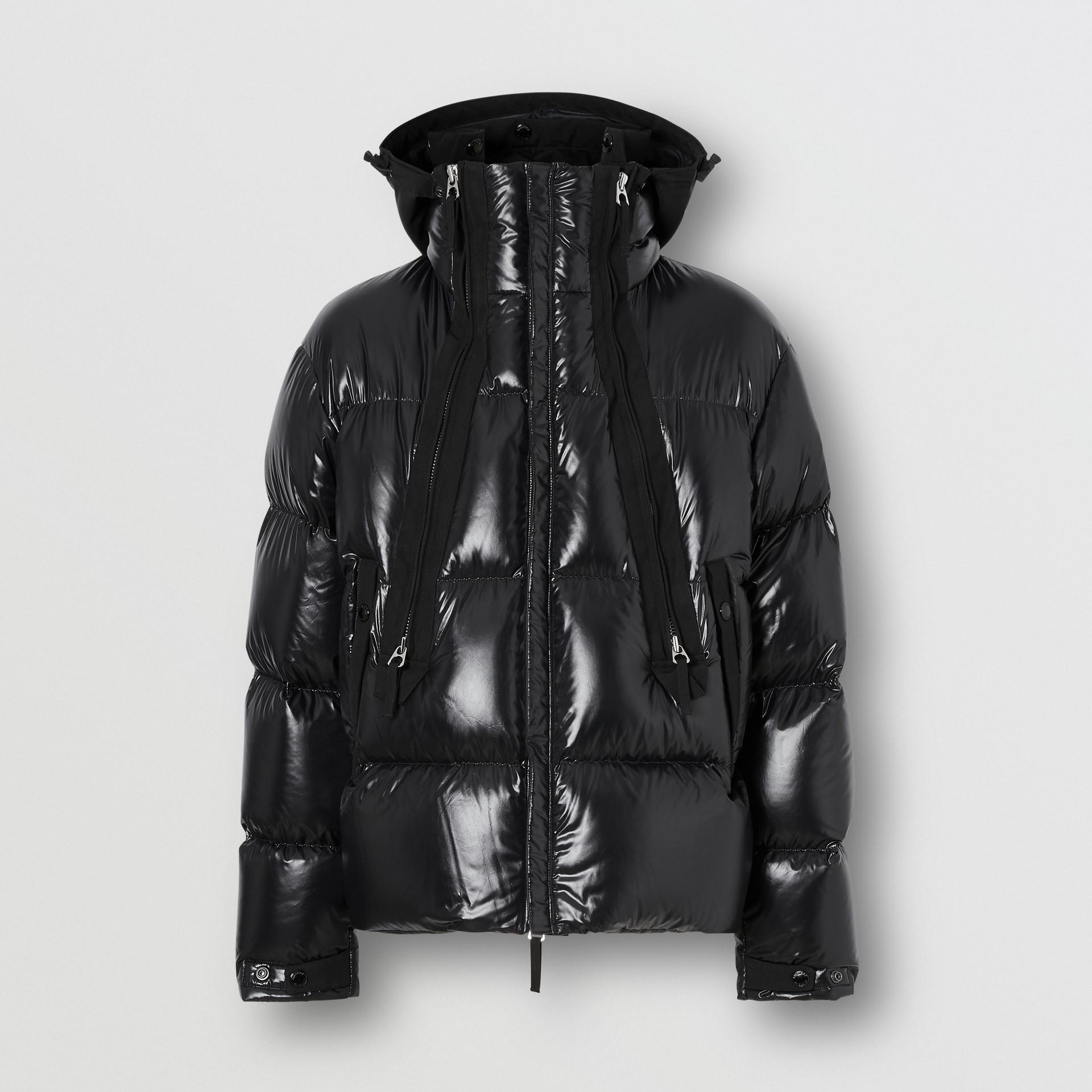 Packaway Hood Puffer Jacket in Black - Men | Burberry - gallery image 3
