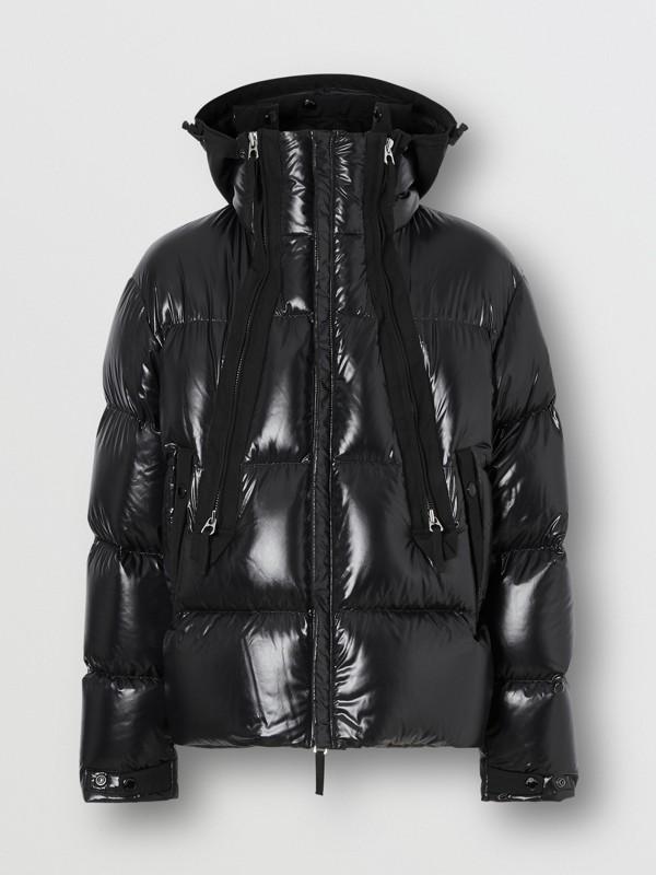 Packaway Hood Puffer Jacket in Black - Men | Burberry - cell image 3