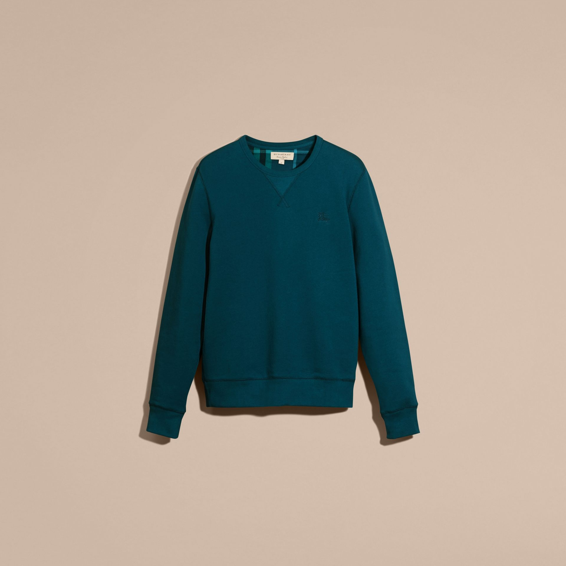 Mineral blue Cotton Blend Jersey Sweatshirt - gallery image 4