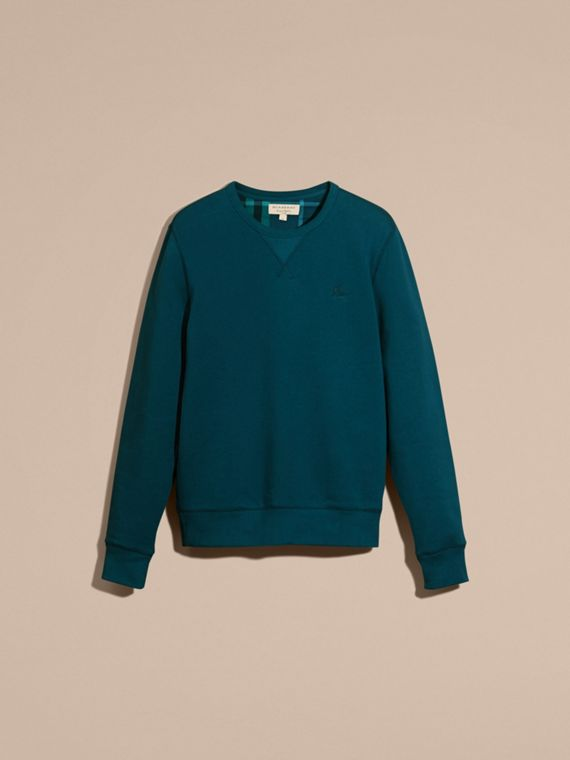 Mineral blue Cotton Blend Jersey Sweatshirt - cell image 3