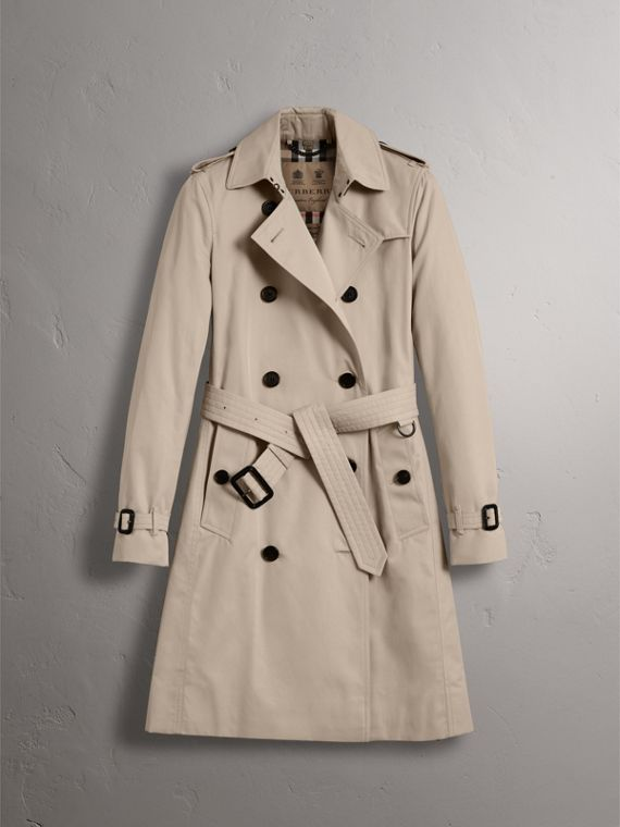 The Kensington – Long Trench Coat in Stone - Women | Burberry - cell image 3