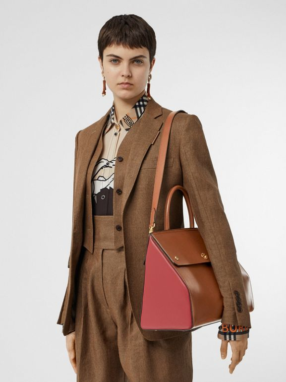 Medium Leather Elizabeth Bag in Malt Brown - Women | Burberry - cell image 1