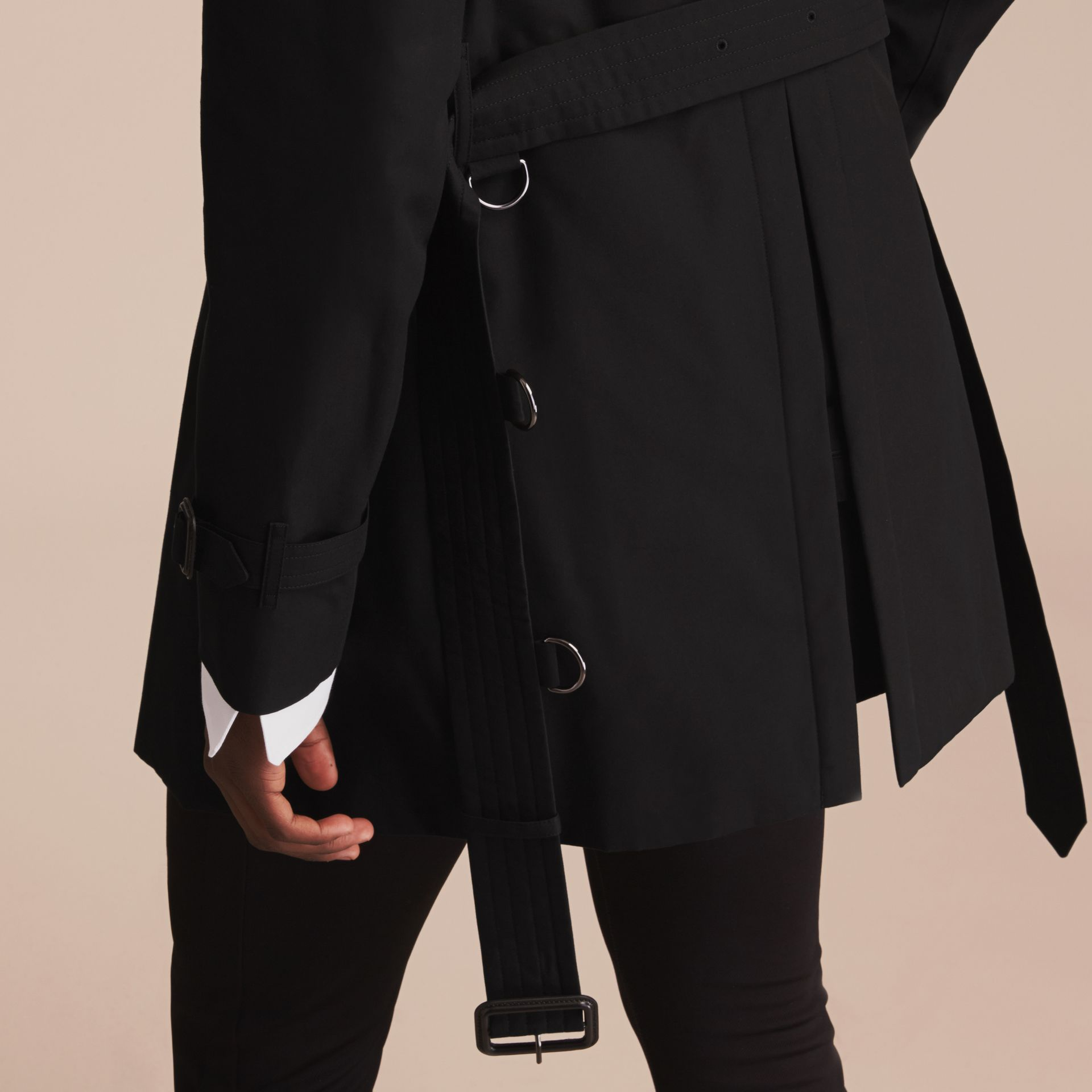 Black The Sandringham – Mid-length Heritage Trench Coat Black - gallery image 7