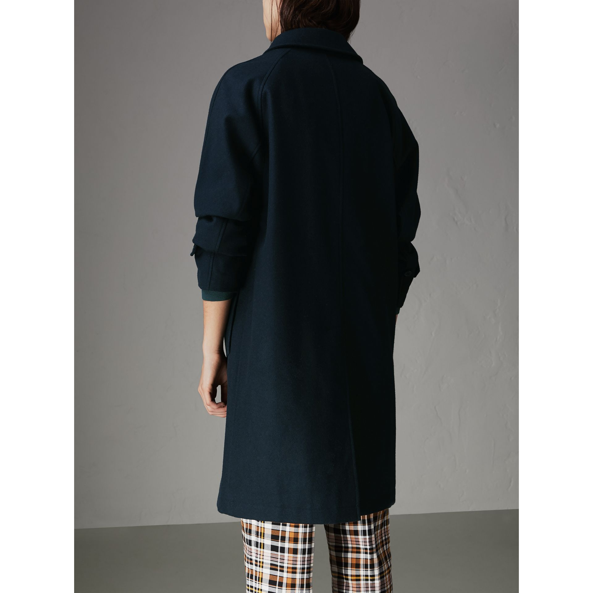 Cashmere Car Coat in Navy - Women | Burberry - gallery image 2