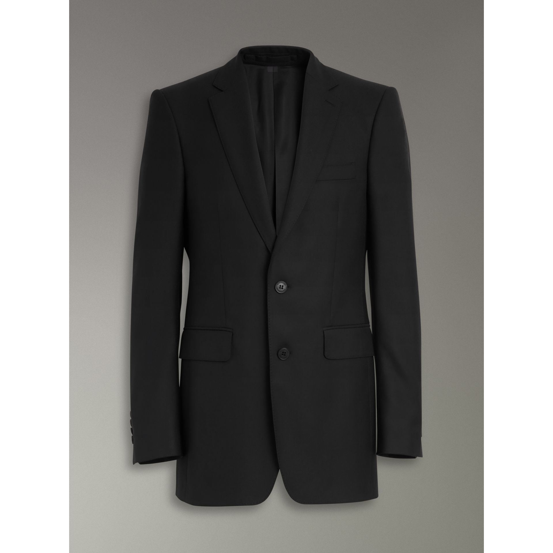 Modern Fit Wool Twill Suit in Black - Men | Burberry Canada - gallery image 3