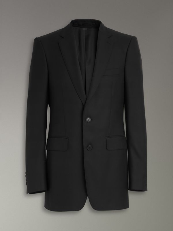 Classic Fit Wool Twill Suit in Black - Men | Burberry Singapore - cell image 3