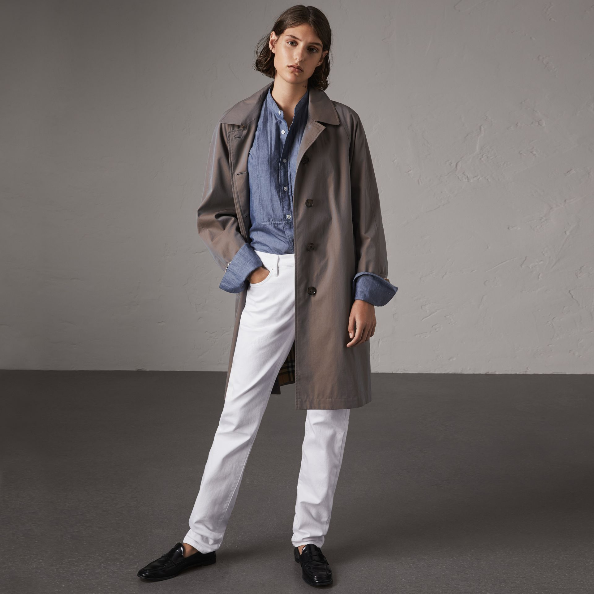 The Camden – Long Car Coat in Lilac Grey - Women | Burberry - gallery image 0