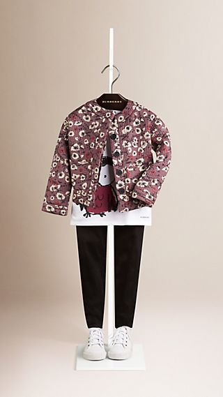 Floral Print Cotton Jacket