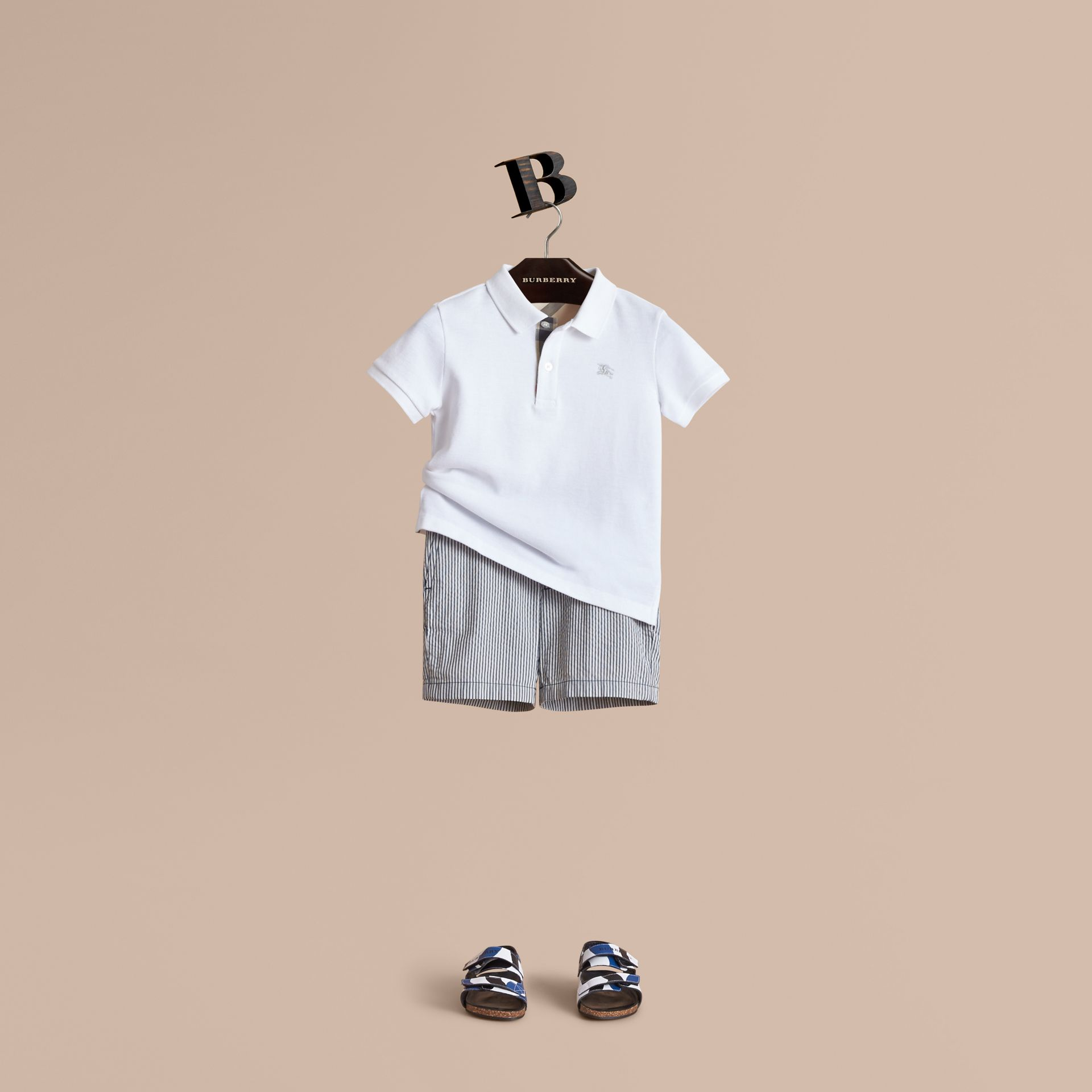 Striped Lightweight Chino Shorts - Boy | Burberry - gallery image 1