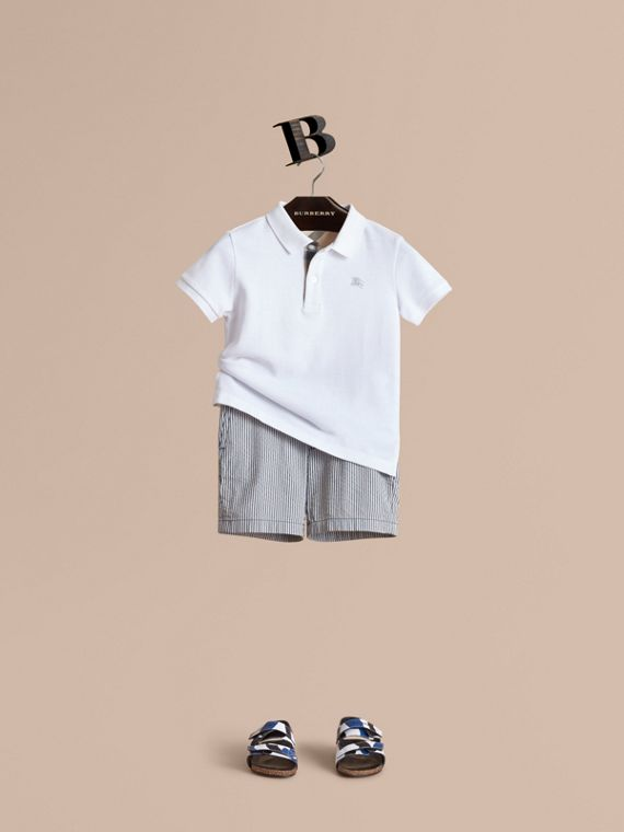Striped Lightweight Chino Shorts - Boy | Burberry Canada