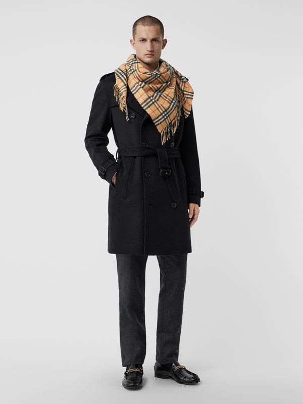 The Burberry Bandana in Vintage Check Cashmere in Antique Yellow | Burberry - cell image 3