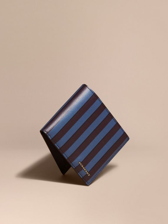 Pyjama Stripe London Leather Folding Wallet