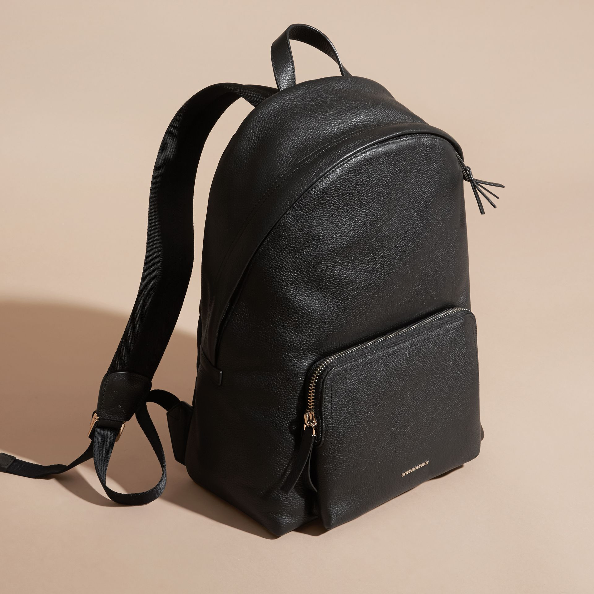 Grainy Leather Backpack - gallery image 8