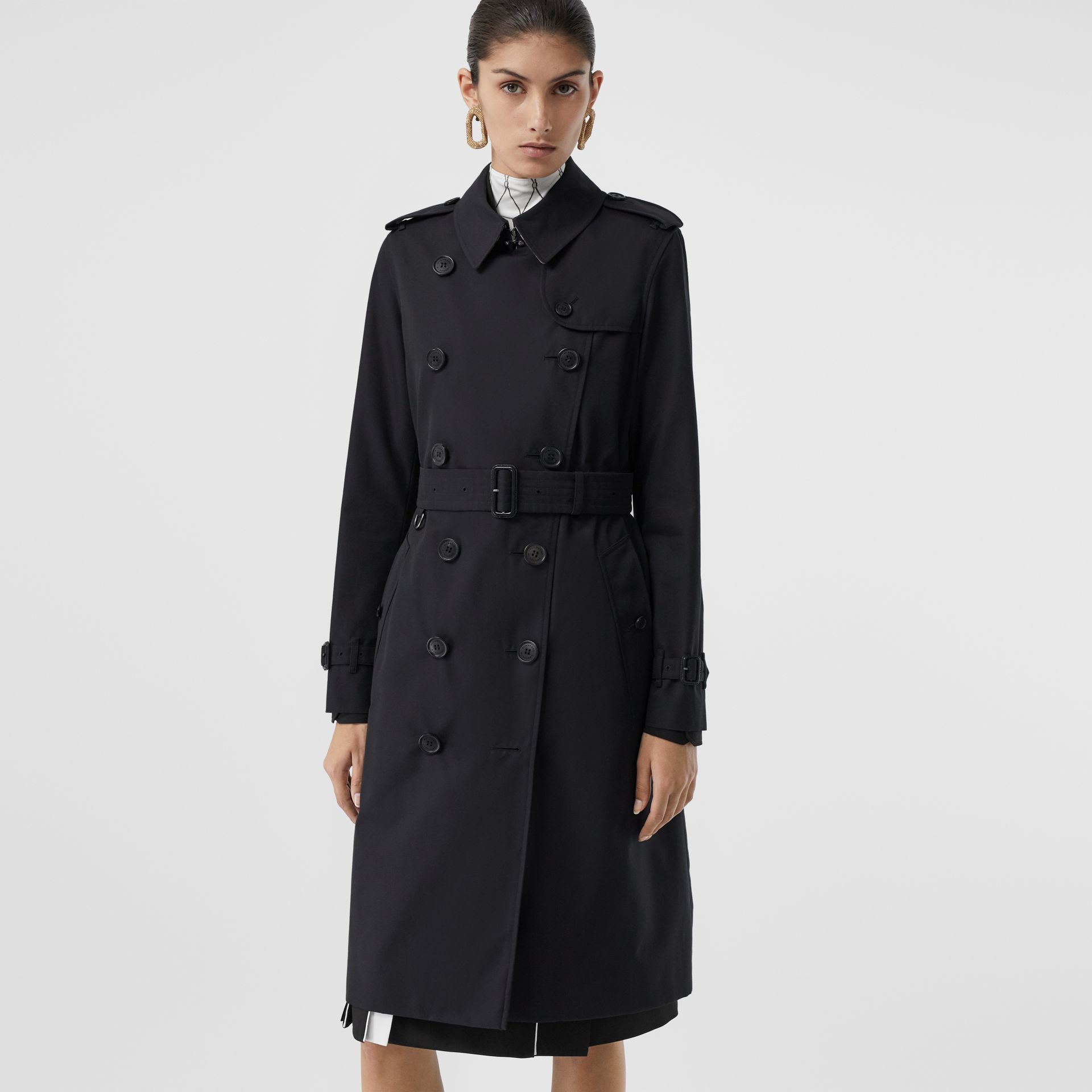 The Long Kensington Heritage Trench Coat in Midnight - Women | Burberry - gallery image 7