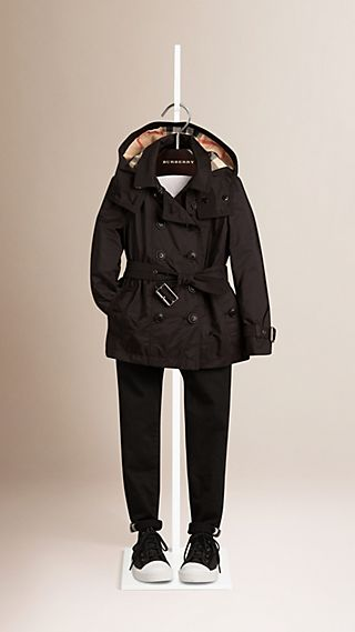 Technical Detachable Hood Trench Coat