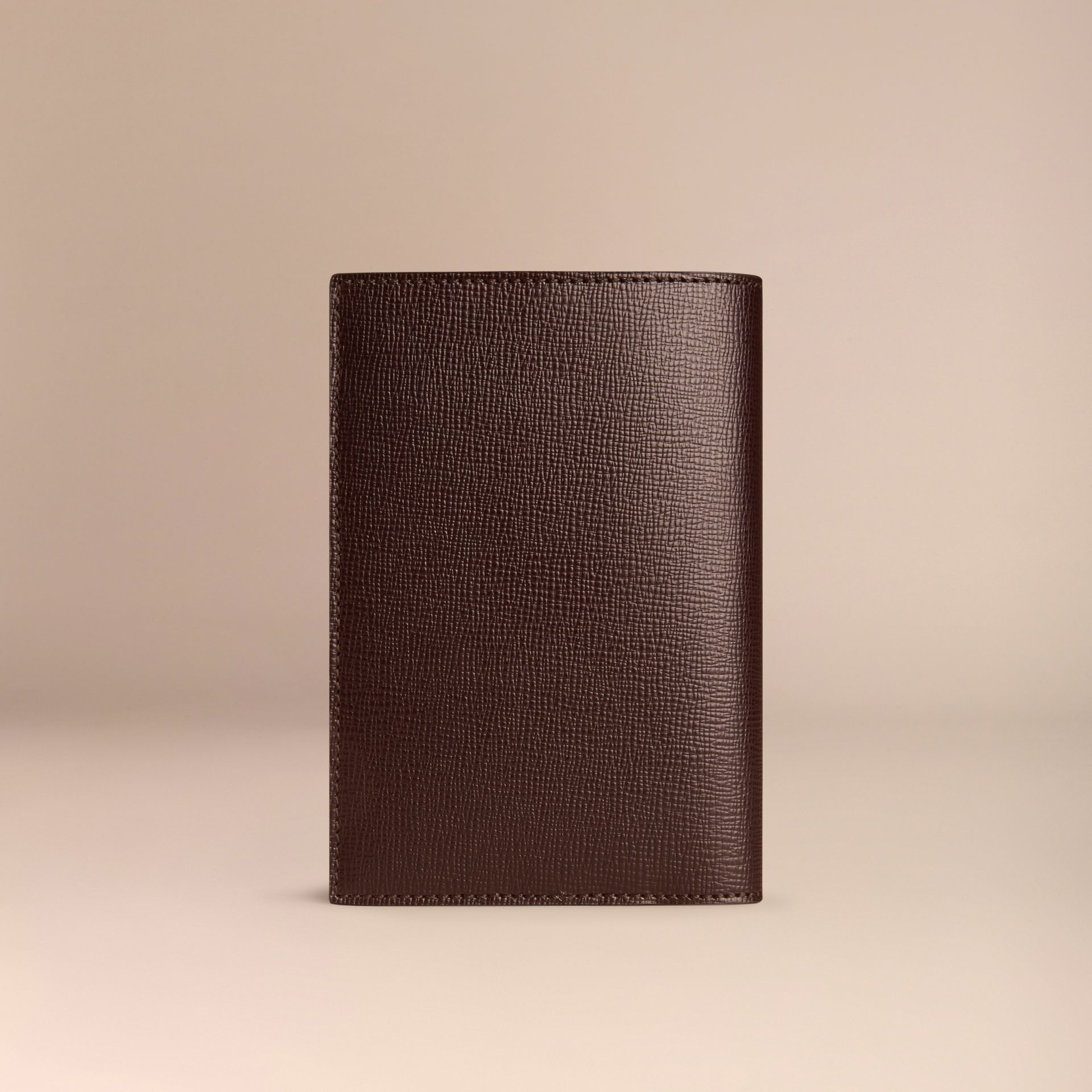Wine London Leather Passport Cover Wine - gallery image 3