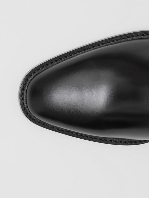 Brogue Detail Leather Boots in Black - Men | Burberry Singapore - cell image 1
