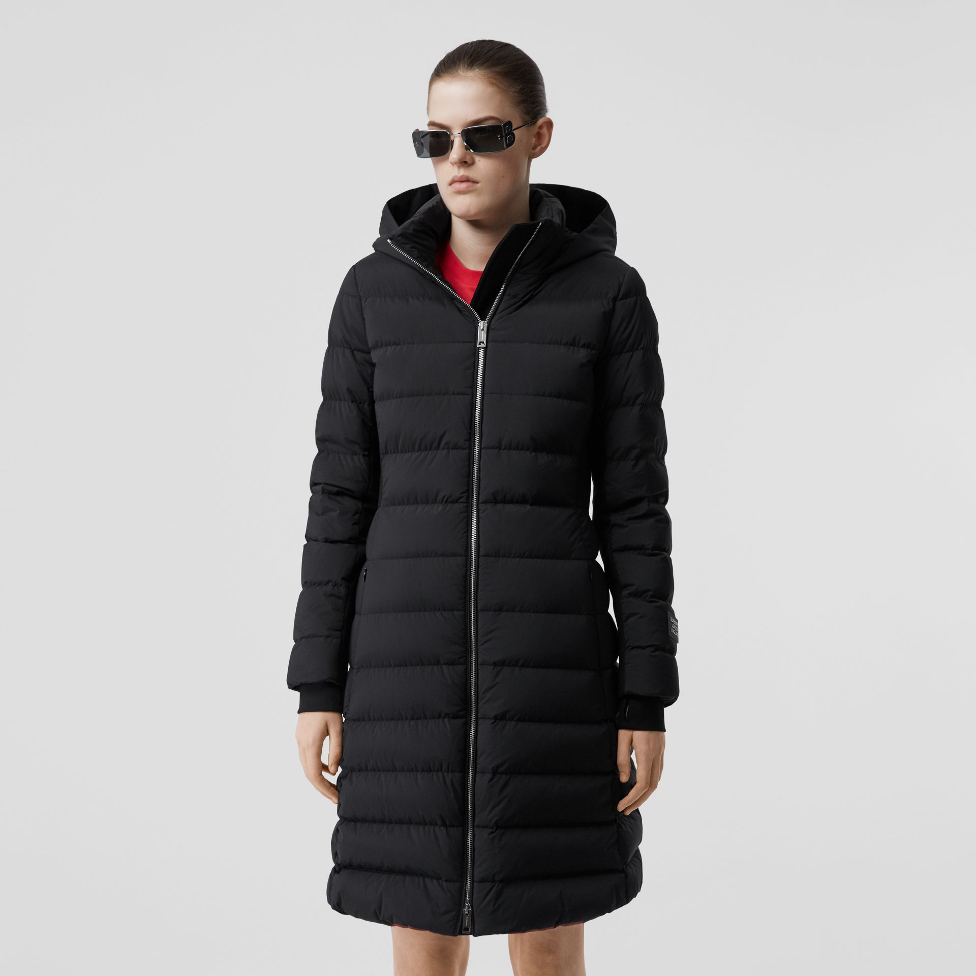 Hooded Puffer Coat in Black - Women   Burberry United States - gallery image 5
