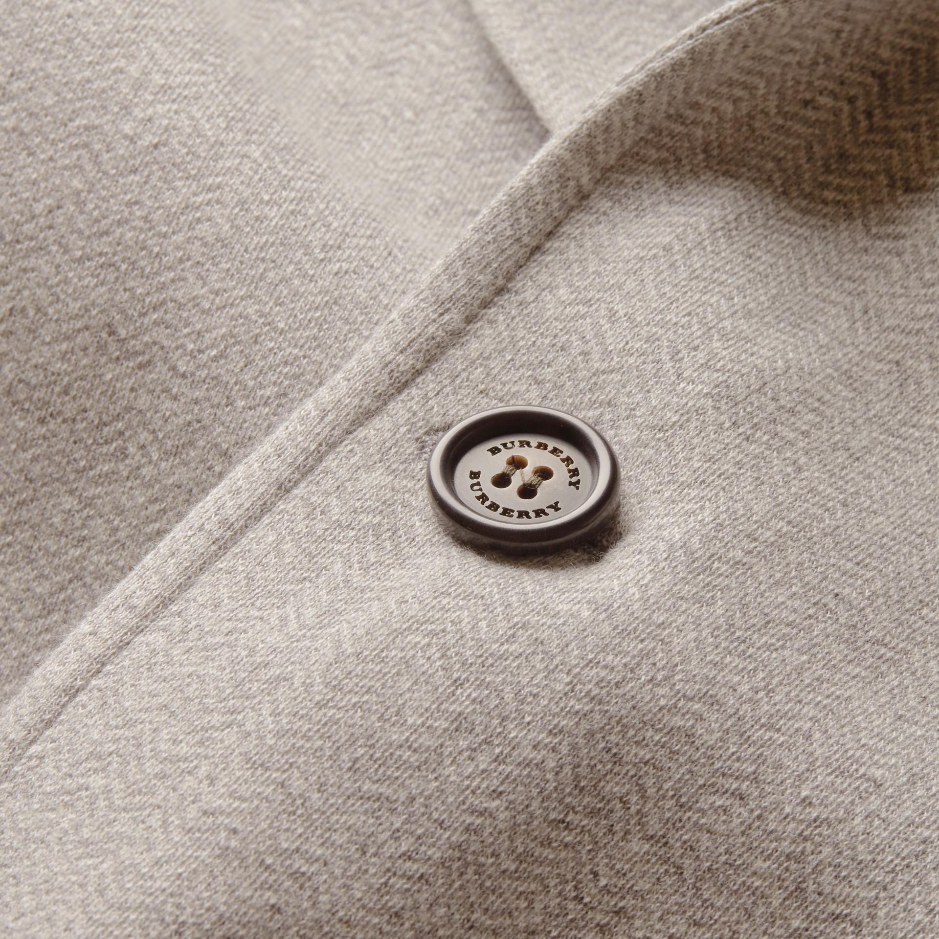 Herringbone Cotton Blend Jersey Blazer - gallery image 2