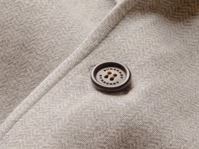 Herringbone Cotton Blend Jersey Blazer - cell image 1