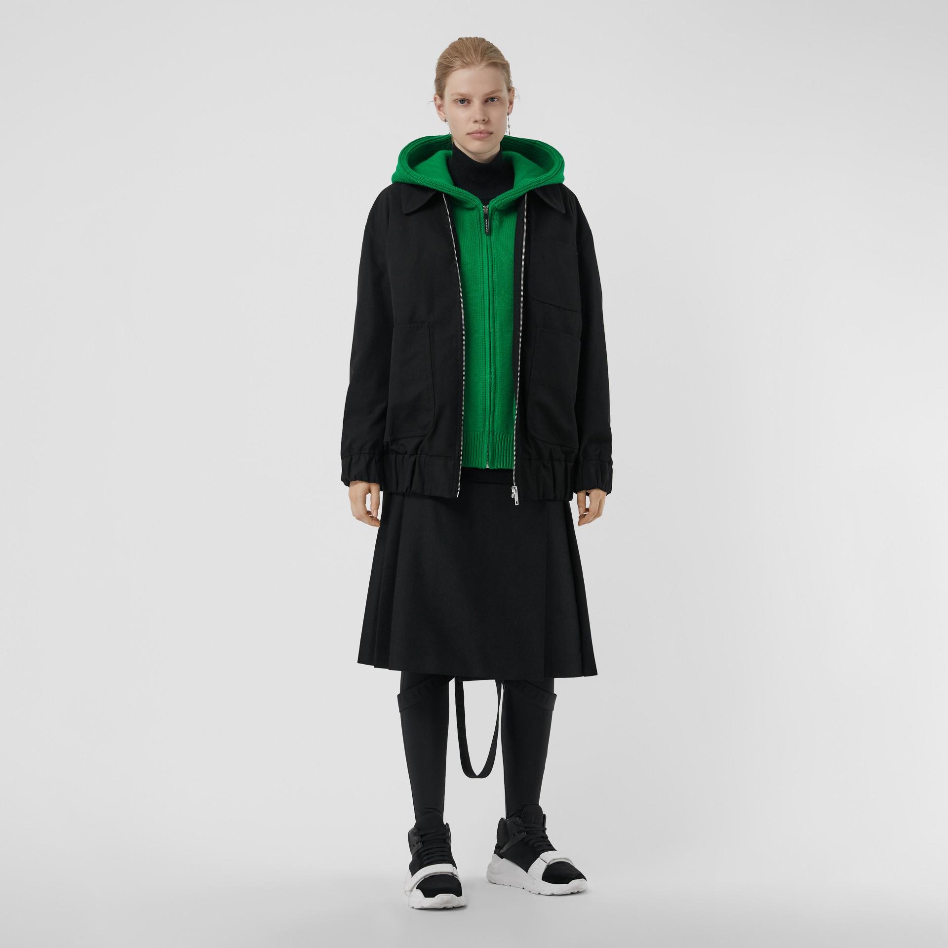Tropical Gabardine Harrington Jacket in Black - Women | Burberry United Kingdom - gallery image 0