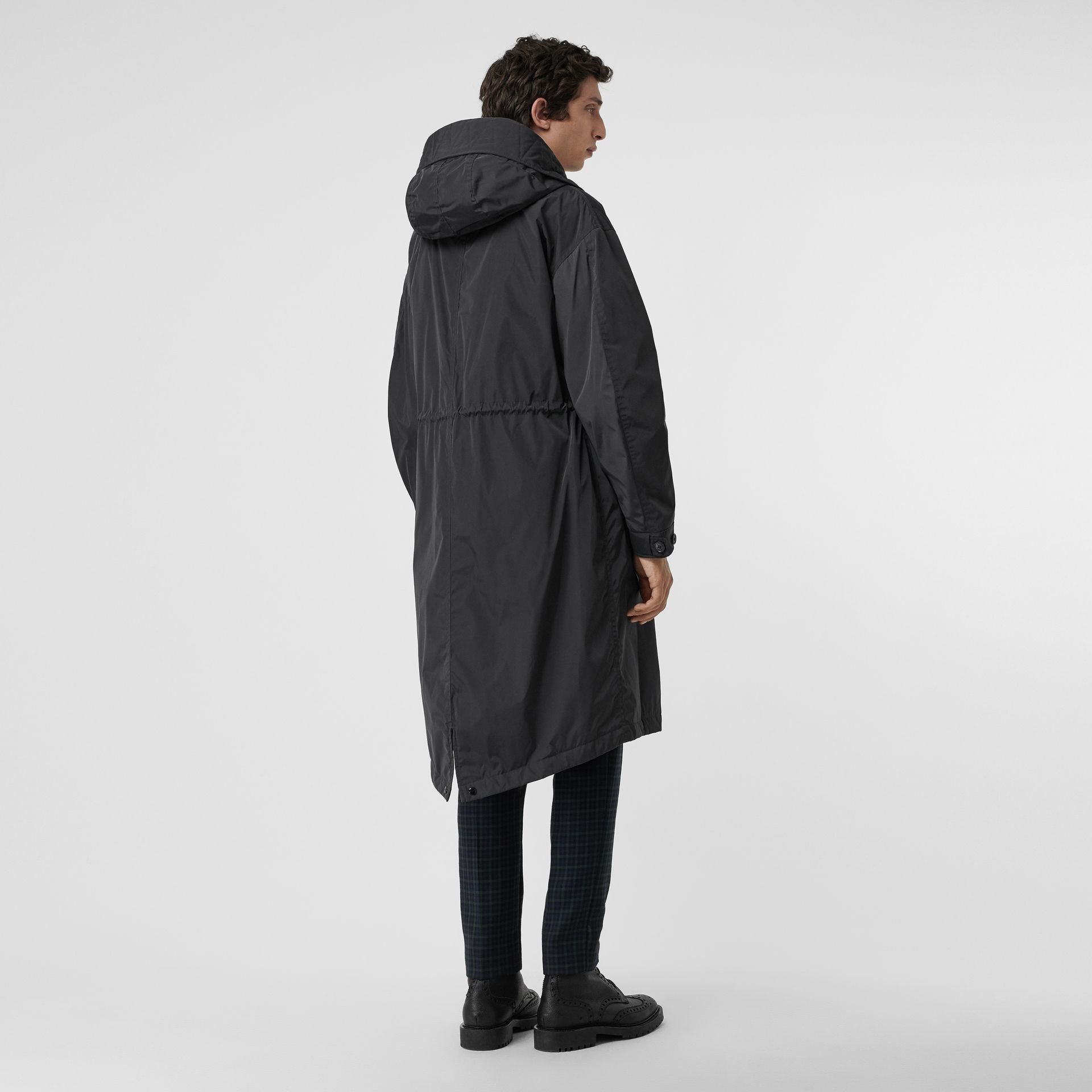 Quilt-lined Technical Nylon Parka in Dark Charcoal - Men | Burberry Australia - gallery image 2