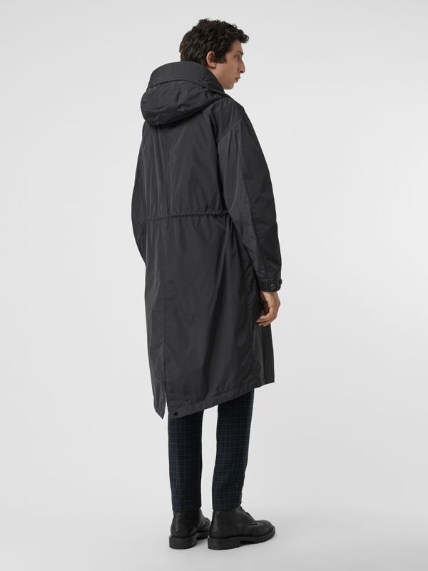 Quilt-lined Technical Nylon Parka in Dark Charcoal - Men | Burberry Australia - cell image 2