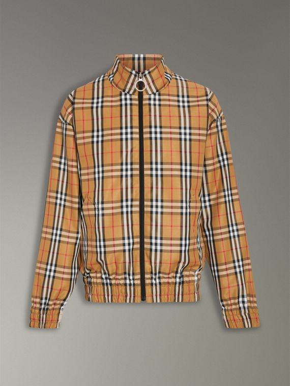 Vintage Check Lightweight Jacket in Antique Yellow - Men | Burberry - cell image 3