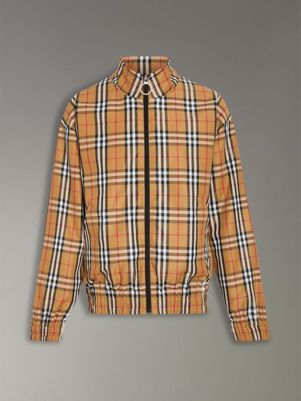 Vintage Check Lightweight Jacket in Antique Yellow - Men | Burberry United Kingdom - cell image 3