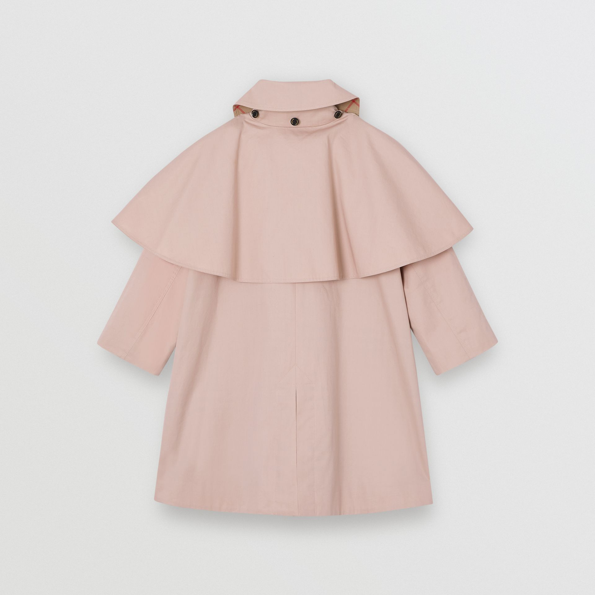 Detachable Hood Showerproof Cotton Swing Coat in Ice Pink | Burberry United Kingdom - gallery image 3